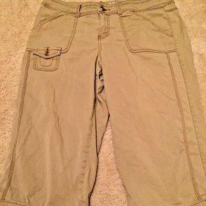 SONOMA MODERN Khaki Chino Crop Capri Pants 8P